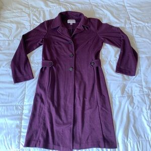 purple long trench coat